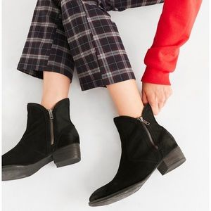 Seychelles Lucky Penny double zipper ankle booties